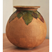 Brown urn with beech leaves